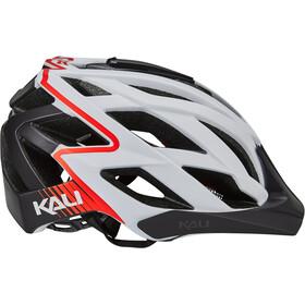 Kali Lunati Helm matt weiß/rot